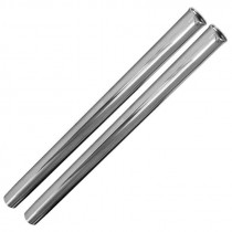 "Central Vacuum Friction-Fit 19"" Chrome Extension Wands 2-Pack"