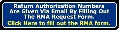 Fill out an RMA Request form image.